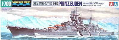 ドイツ 重巡洋艦 プリンツ オイゲンプラモデル(タミヤ1/700 ウォーターラインシリーズNo.805)商品画像