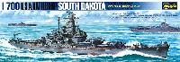 ハセガワ1/700 ウォーターラインシリーズアメリカ海軍 戦艦 サウスダコダ