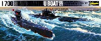 ハセガワ1/700 ウォーターラインシリーズドイツ潜水艦 Uボート 7型C / 9型C