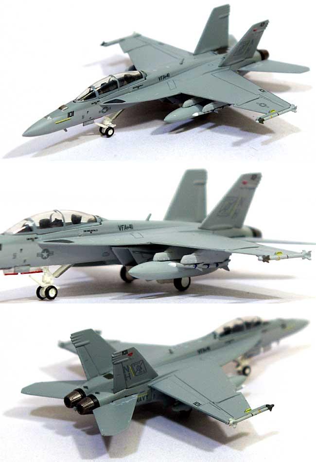 F/A-18F スーパーホーネット アメリカ海軍 VFA-41 ブラックエイセス NH101 COバード 2007年 (ロービジ)完成品(ホーガンウイングスM-SERIESNo.6177)商品画像_1