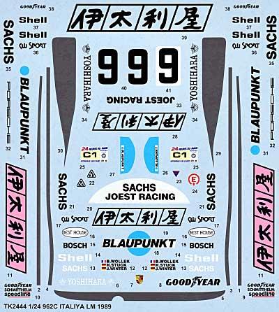ポルシェ 962C 伊太利屋 ル・マン 1989 スペアデカールデカール(スタジオ27ツーリングカー/GTカー オリジナルデカールNo.SDT-2444)商品画像