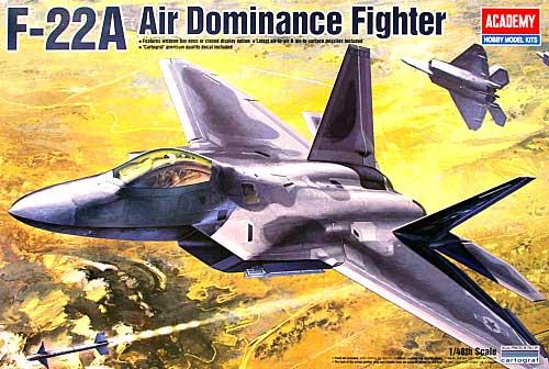 F-22A ラプタープラモデル(アカデミー1/48 Scale AircraftsNo.12212)商品画像