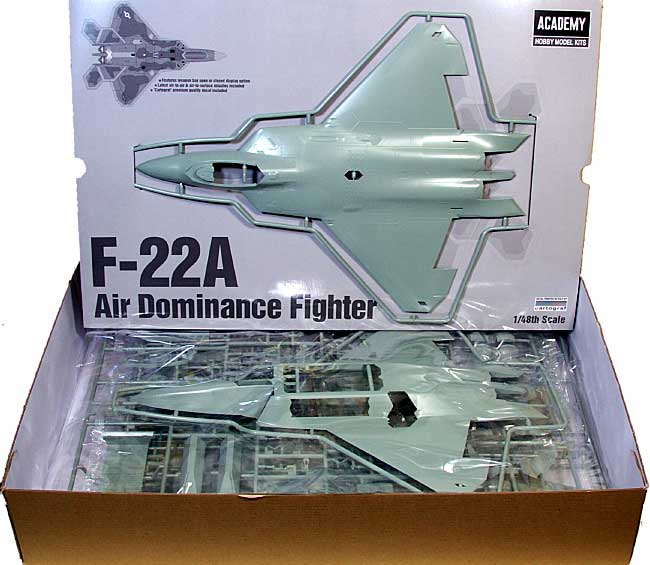 F-22A ラプター プラモデル (アカデミー 1/48 Scale Aircrafts No.12212) 商品画像_1