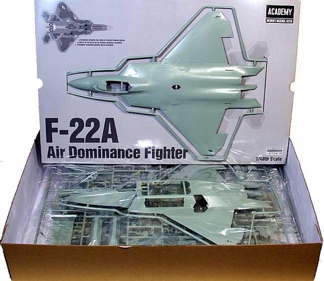 F-22A ラプタープラモデル(アカデミー1/48 Scale AircraftsNo.12212)商品画像_1
