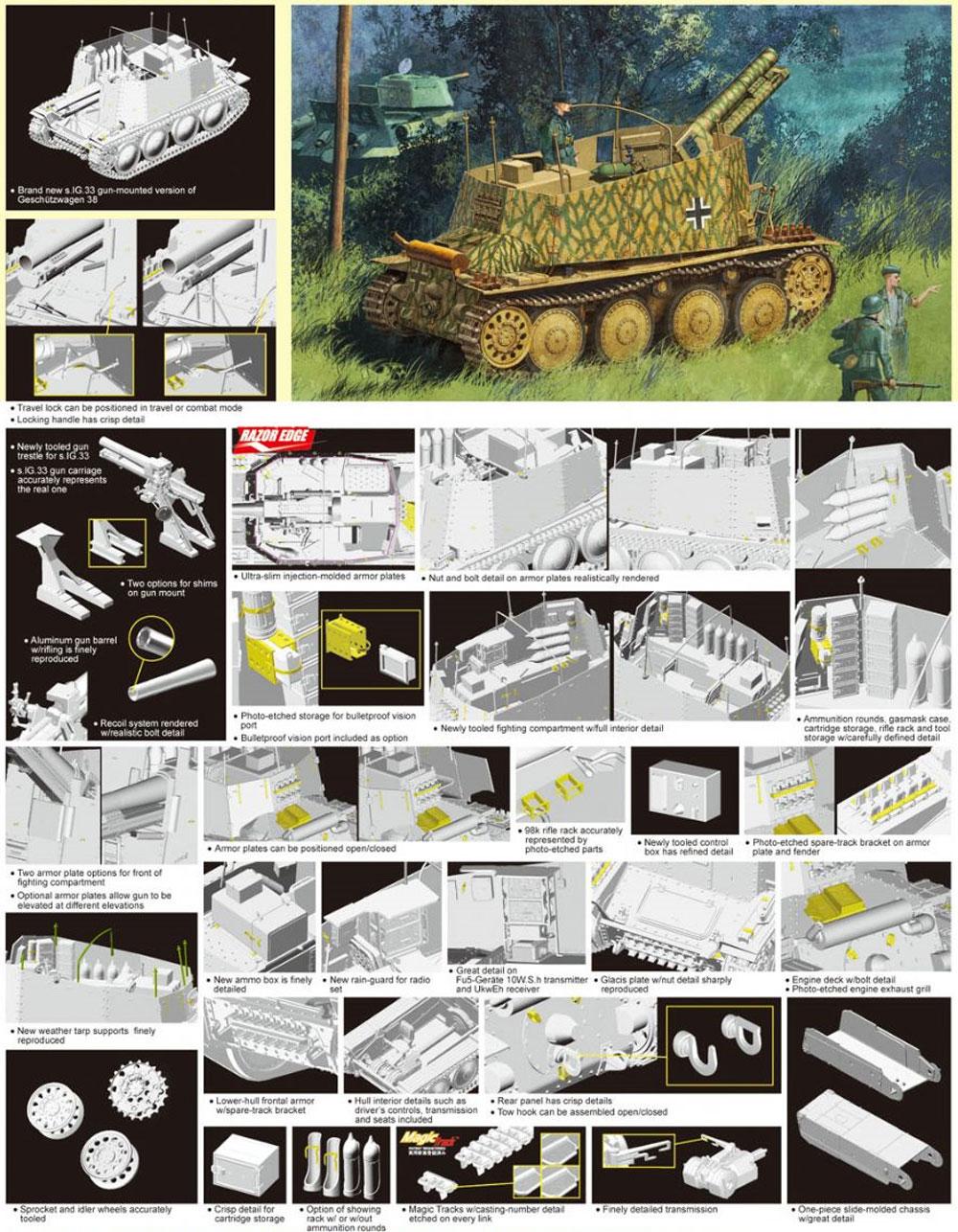 Sd.Kfz.138/1 38t 15cm自走重歩兵砲 グリレH型プラモデル(ドラゴン1/35 '39-'45 SeriesNo.6470)商品画像_2