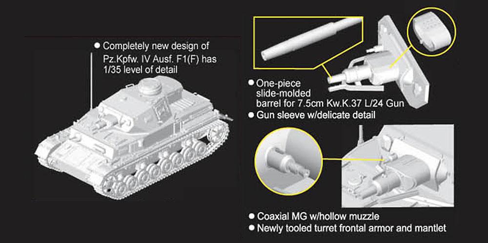 ドイツ 4号戦車 Ausf.F1(F)プラモデル(ドラゴン1/72 ARMOR PRO (アーマープロ)No.7321)商品画像_2