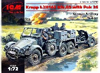ICM1/72 ミリタリービークルドイツ Kfz.70 クルップボクサー L2H143 兵員輸送車 & Pak36 対戦車砲