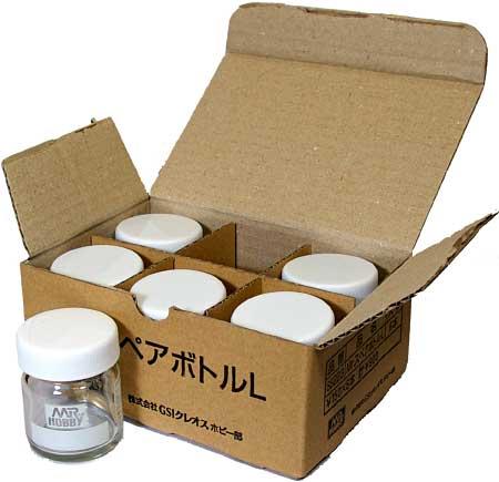 Mr.スペアーボトル L (30ml) (6個入りパック)塗料瓶(GSIクレオスアクセサリーNo.SB223B)商品画像