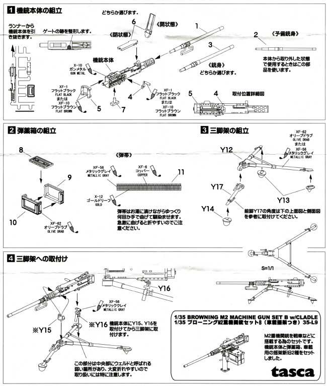 ブローニング M2 重機関銃セット A (三脚架つき)プラモデル(アスカモデル1/35 プラスチックモデルキットNo.35-L008)商品画像_2