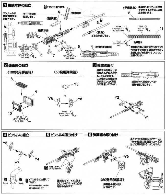ブローニング M2 重機関銃セット C (初期型車載揺架つき)プラモデル(アスカモデル1/35 プラスチックモデルキットNo.35-L024)商品画像_2