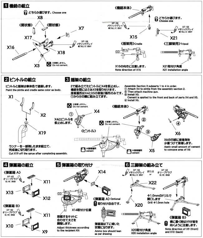 ブローニング M1919A4 機関銃セットプラモデル(アスカモデル1/35 プラスチックモデルキットNo.35-L026)商品画像_2