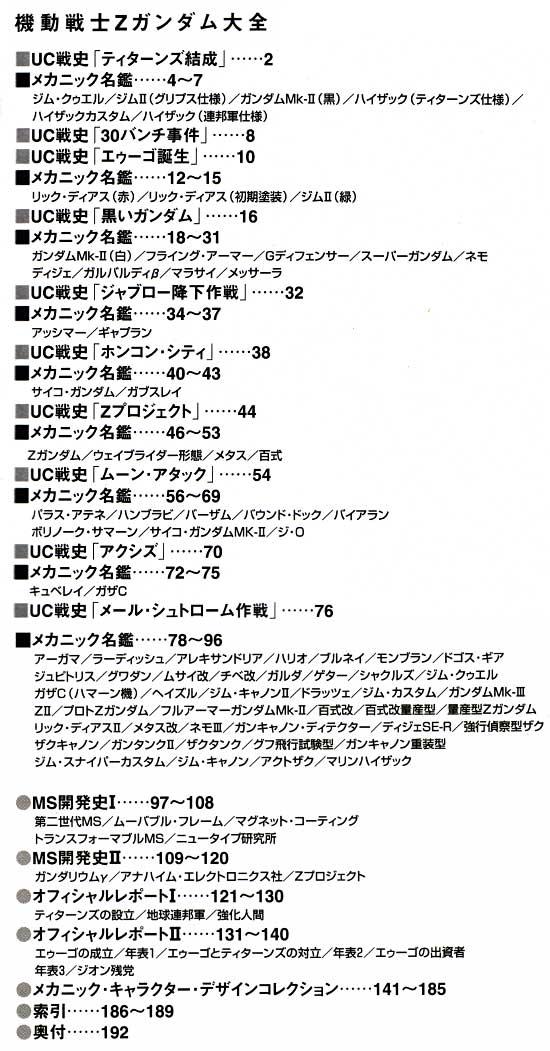 機動戦士Z ガンダム大全本(アスキー・メディアワークスデータコレクションNo.86764)商品画像_1