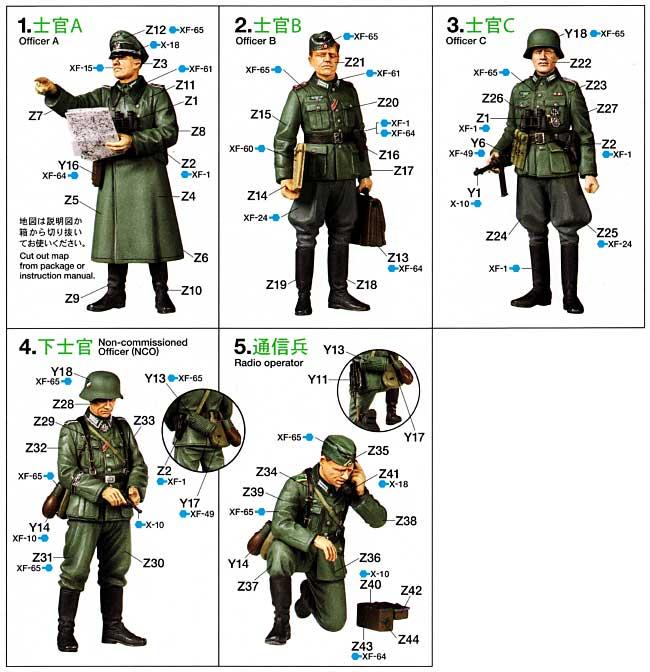 ドイツ野戦指揮官セットプラモデル(タミヤ1/35 ミリタリーミニチュアシリーズNo.298)商品画像_1