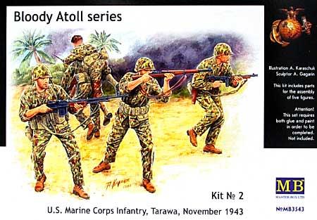 アメリカ 海兵隊兵士 1943年11月 タラワ (Bloody Atoll series No.2)プラモデル(マスターボックス1/35 ミリタリーミニチュアNo.MB3543)商品画像