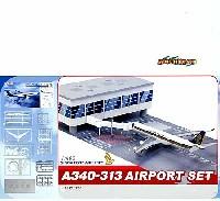サイバーホビー1/400 エアライン (組立キット)シンガポール航空 A340-313 エアポートセット