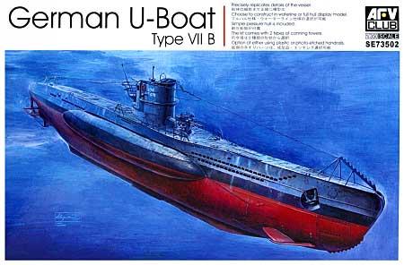 ドイツ海軍 潜水艦 Uボート タイプ 7Bプラモデル(AFV CLUB1/350 潜水艦No.SE73502)商品画像