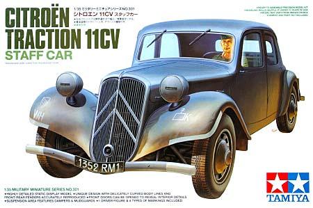 シトロエン 11CV スタッフカープラモデル(タミヤ1/35 ミリタリーミニチュアシリーズNo.301)商品画像