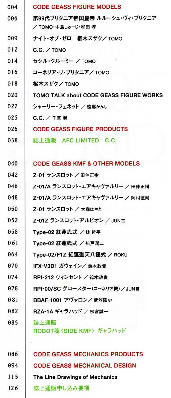 コードギアス 反逆のルルーシュ CODEGEASS MODEL WORKS本(ホビージャパンHOBBY JAPAN MOOK)商品画像_1