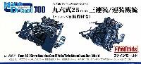 ファインモールド1/700 ナノ・ドレッド シリーズ九六式 25mm 三連装/連装機銃 (エッチング製 防盾付き)