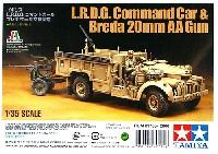 タミヤタミヤ イタレリ シリーズイギリス L.R.D.G. コマンドカー & ブレダ20mm対空機関砲