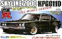 フジミ1/24 インチアップシリーズニッサン スカイライン GT-R (KPGC110) フルワークス仕様