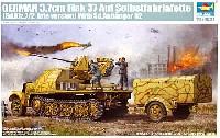 Sd.Kfrz.7/2 8tハーフトラック 後期型 3.7cm Flak37 対空機関砲搭載型 & Sd.Anhanger52 トレーラー