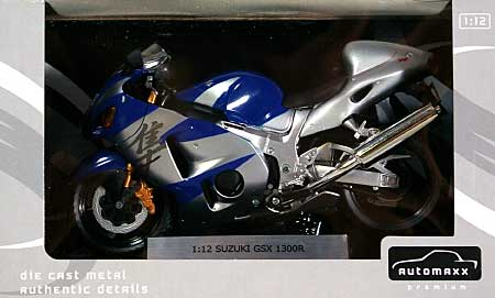 スズキ GSX1300R ハヤブサ (ブルー)完成品(アオシマ1/12 完成品バイクシリーズNo.0079904)商品画像