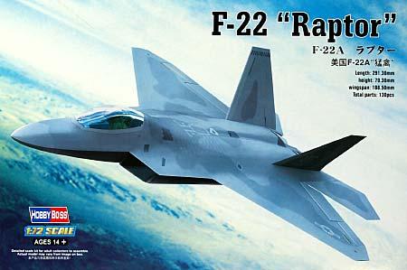 F-22A ラプタープラモデル(ホビーボス1/72 エアクラフト プラモデルNo.80210)商品画像