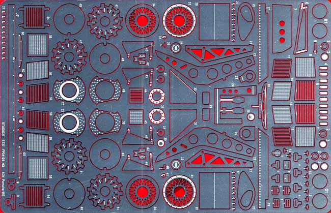 ポルシェ 956 HG グレードアップパーツエッチング(スタジオ27ツーリングカー/GTカー デティールアップパーツNo.FP24129HG)商品画像_1