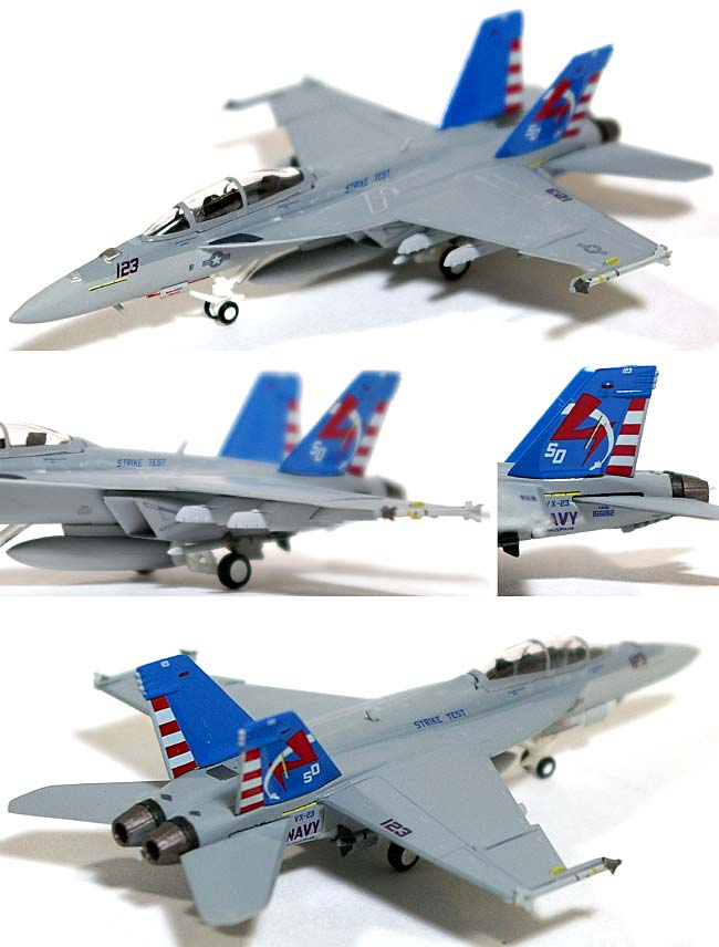 F/A-18F スーパーホーネット VX-23 ソルティドッグス SD123 テストバード 2008年 (ハイビジ)完成品(ホーガンウイングスM-SERIESNo.6450)商品画像_1
