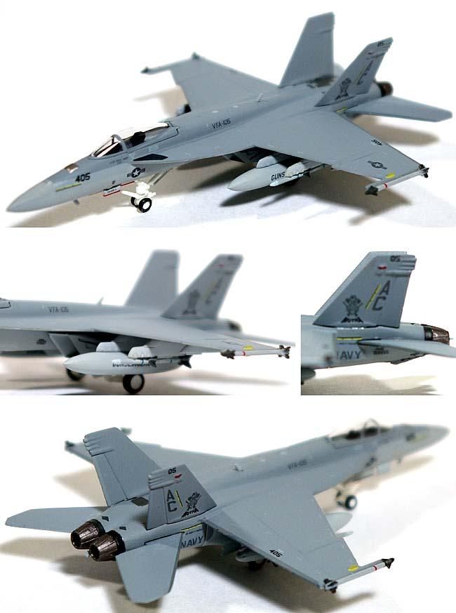 F/A-18E スーパーホーネット VFA-105 ガンスリンガーズ ラインジェット AC405 第3空母航空団 オシアナ基地 (ロービジ)完成品(ホーガンウイングスM-SERIESNo.6306)商品画像_1