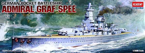 ドイツ戦艦 アドミラルグラフシュペープラモデル(アカデミー艦船・船舶No.14103)商品画像