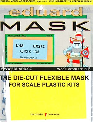 A6M2-K 零式練習戦闘機用 マスキングシールマスキングシート(エデュアルド1/48 エアクラフト用 エデュアルド マスク (EX-×)No.EX-272)商品画像