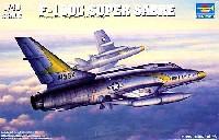 トランペッター1/48 エアクラフト プラモデルアメリカ空軍 F-100C スーパーセイバー