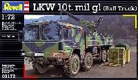 レベル1/72 ミリタリーMAN 10t mil gl 8×8 トラック