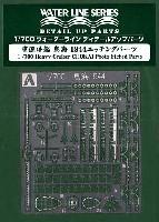 アオシマ1/700 ウォーターライン ディテールアップパーツ重巡洋艦 鳥海 1944 エッチングパーツ