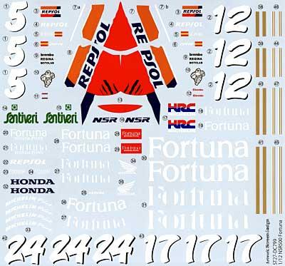 ホンダ NSR500 HONDA PONS WGP 1995/1996デカール(スタジオ27バイク オリジナルデカールNo.DC799)商品画像