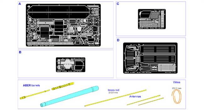 ヘッツァー 駆逐戦車(Sd.Kfz.138/2)用 アップグレードセット (エッチングパーツ & 砲身)エッチング(アベール1/35 AFV用エッチングパーツNo.35K006)商品画像_2