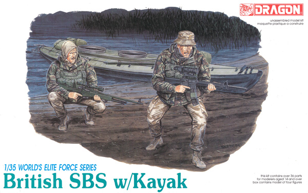 現用イギリス軍 特殊舟艇部隊 SBS w/カヤックプラモデル(ドラゴン1/35 World
