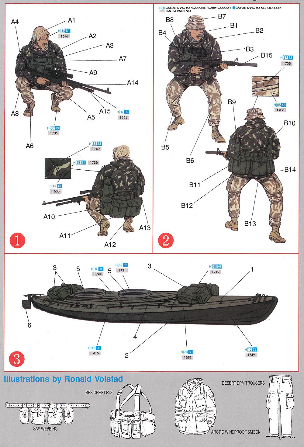 現用イギリス軍 特殊舟艇部隊 SBS w/カヤックプラモデル(ドラゴン1/35 World's Elite Force SeriesNo.3023)商品画像_1