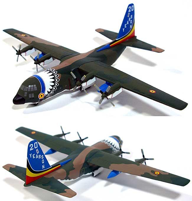 C-130 ハーキュリーズ ベルギー空軍 第20飛行隊 創設20周年 記念塗装機完成品(ホーガンウイングス1/200 完成品モデルNo.6412)商品画像_2
