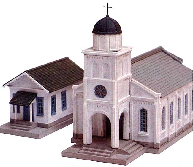 教会 B (白い塔の教会)プラモデル(トミーテック建物コレクション (ジオコレ)No.DT-065)商品画像_1