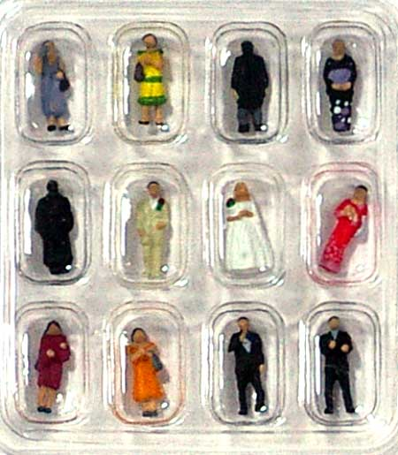 結婚式の人々完成品(トミーテック情景コレクション ザ・人間シリーズNo.039)商品画像_1