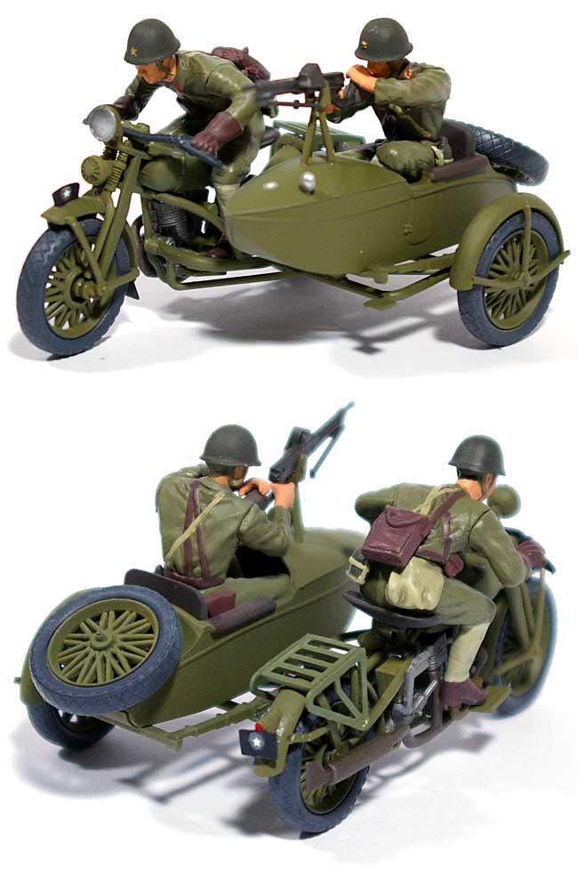 日本陸軍 97式側車付自動二輪車 陸王 (塗装済完成品)完成品(ピットロード塗装済完成品モデルNo.G-014M)商品画像_1