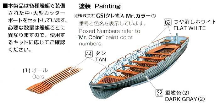 カッターボートセットプラモデル(ファインモールド1/700 ナノ・ドレッド シリーズNo.WA009)商品画像_1