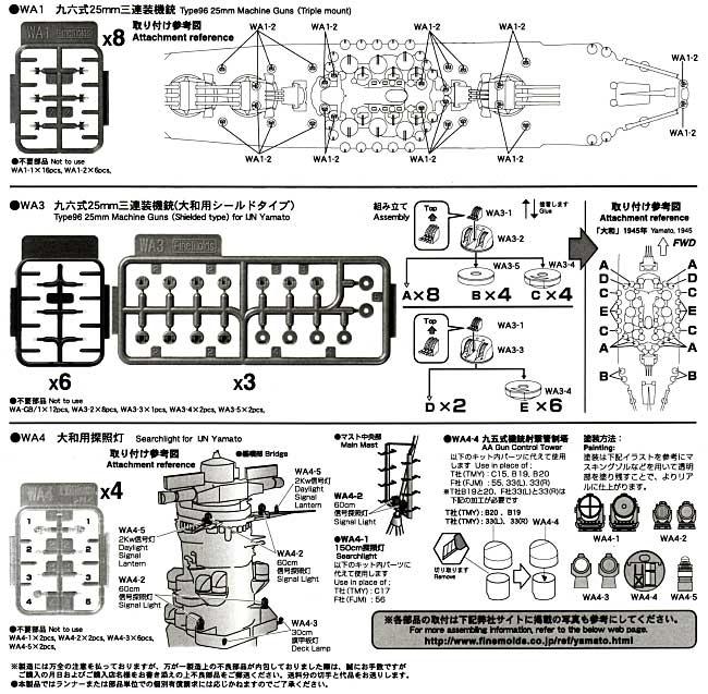 戦艦大和 (最終時) 用 セットプラモデル(ファインモールド1/700 ナノ・ドレッド シリーズNo.779032)商品画像_1