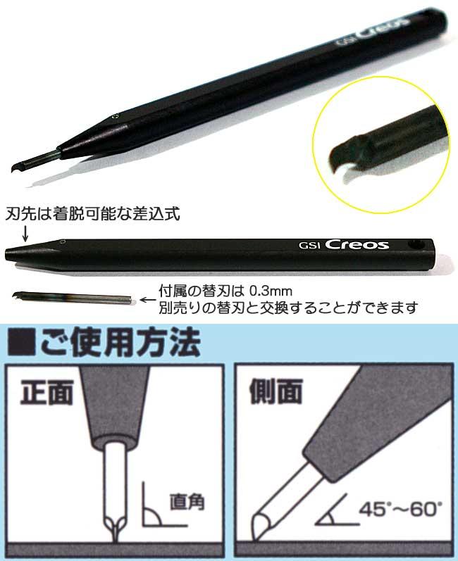Mr.ラインチゼル (けがきツール)チゼル(GSIクレオスMr.ラインチゼルNo.GT065)商品画像_1