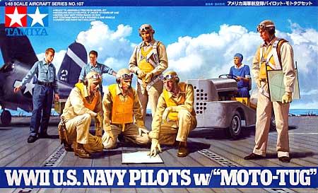 アメリカ海軍航空隊 パイロット・モトタグセットプラモデル(タミヤ1/48 傑作機シリーズNo.107)商品画像