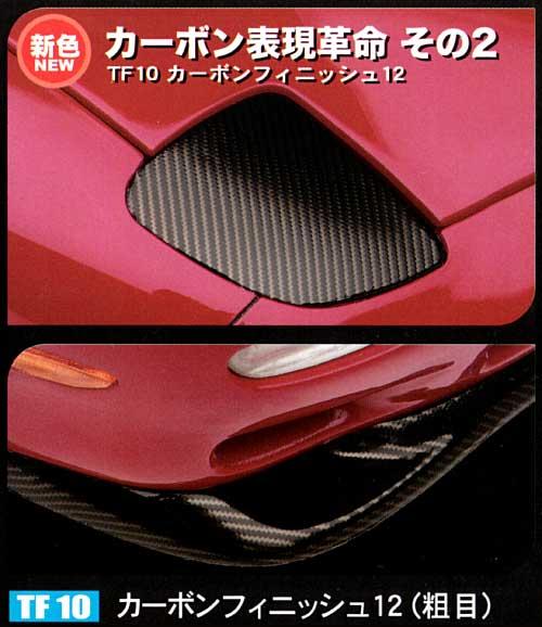カーボンフィニッシュ 12 (曲面追従金属光沢シート)曲面追従シート(ハセガワトライツールNo.TF010)商品画像_1