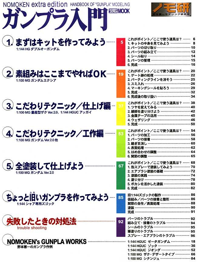 ガンプラ入門 (ノモ研 エクストラ エディション)本(ホビージャパンHOBBY JAPAN MOOKNo.309)商品画像_1